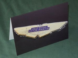 Aston Martin DB4GT Badge. Greetings Card
